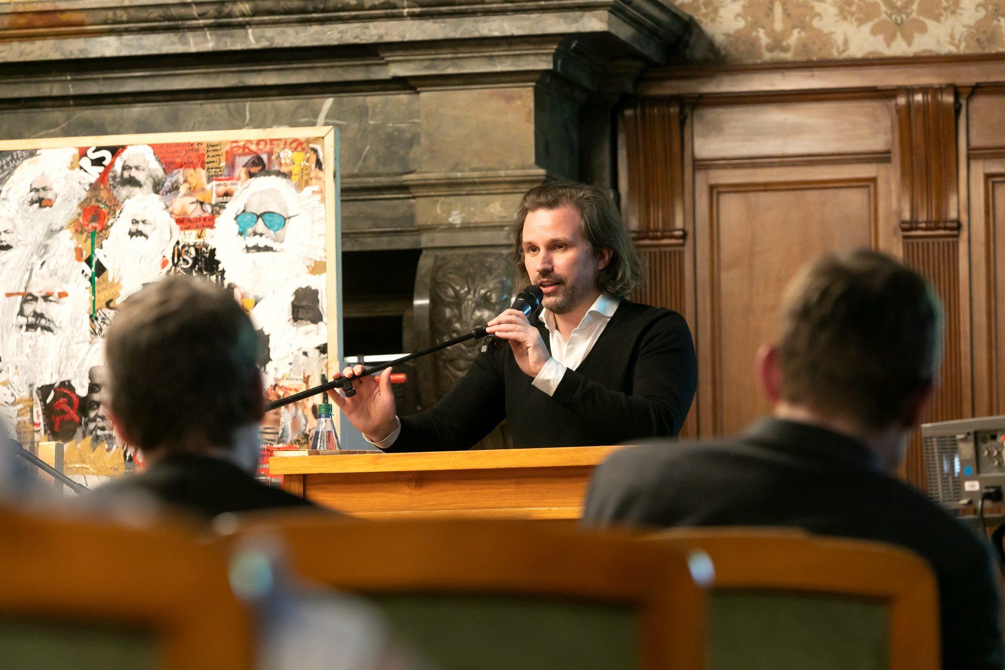 Michael von zur Mühlen, Bertolt Brecht Gastprofessor der Stadt Leipzig am CCT im Sommersemester 2019<br>(c) CCT/Swen Reichhold