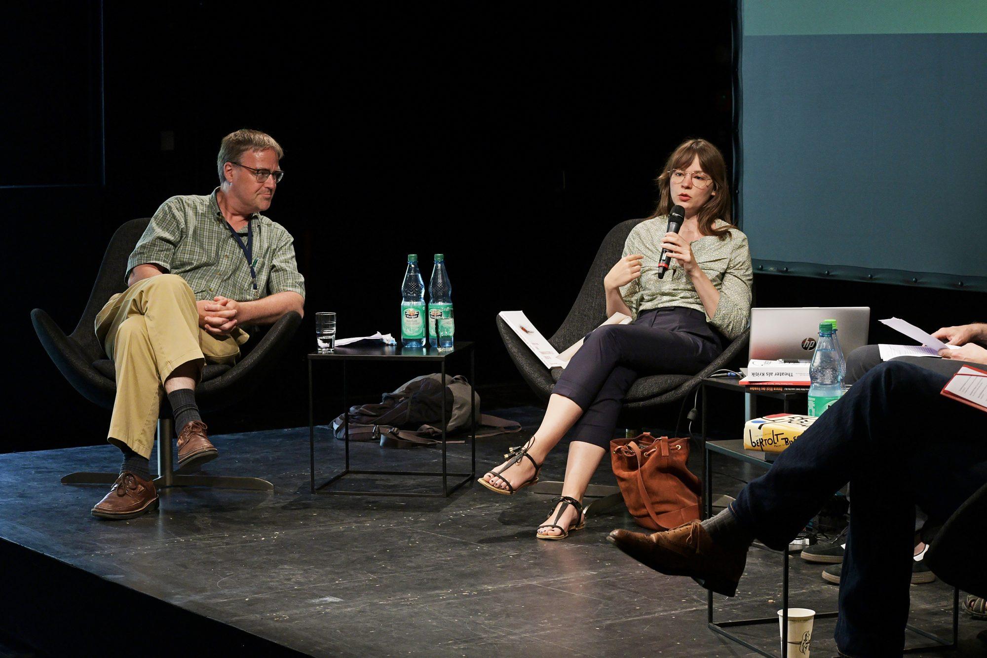 Stephen Brockman und Jeanne Bindernagel im Gespräch. © CCT/Daniel Herold