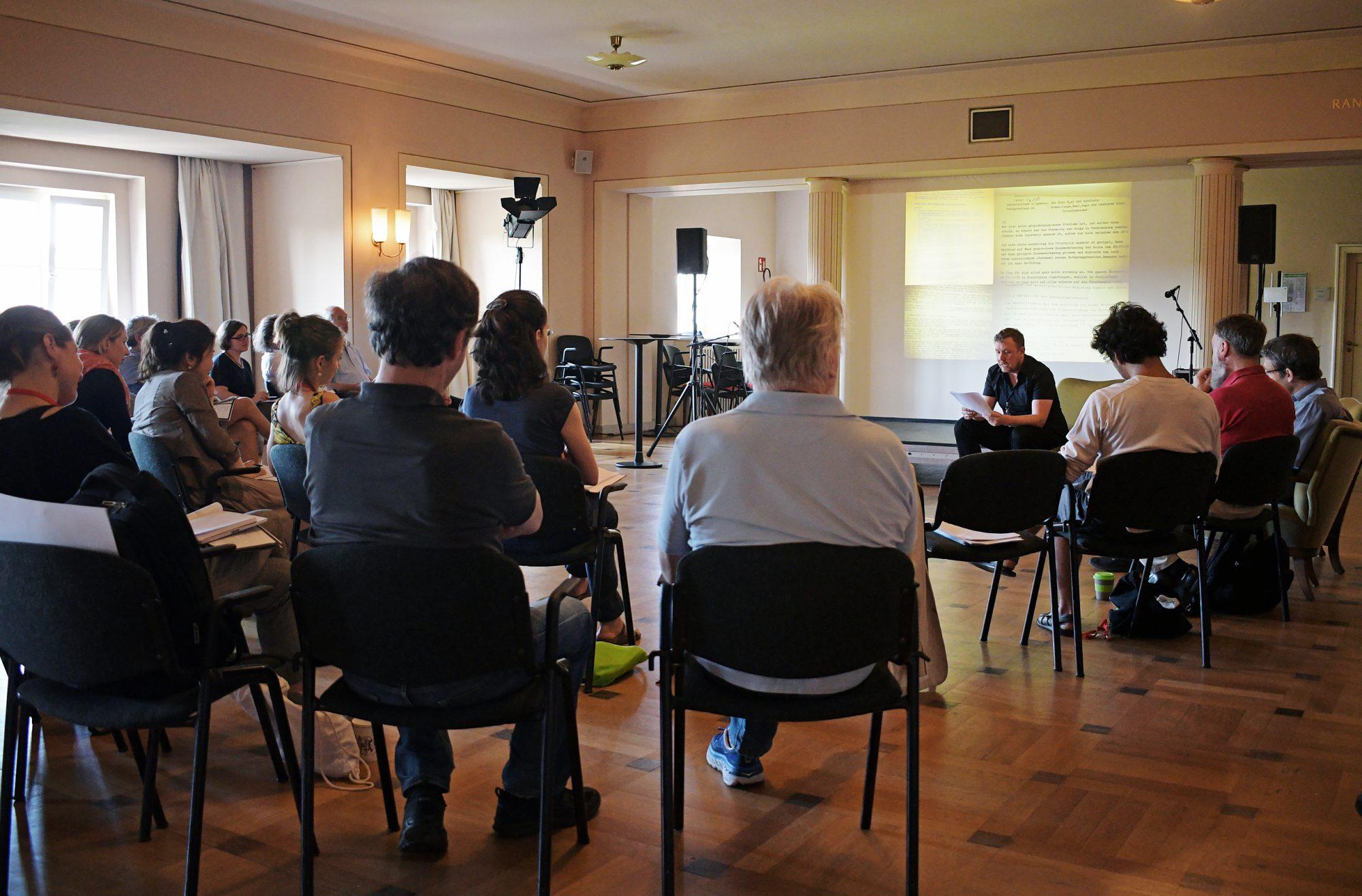 Vortrag im Rangfoyer des Schauspiel Leipzig. © CCT/Daniel Herold